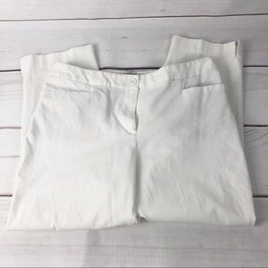 Talbots white curvy fit crop